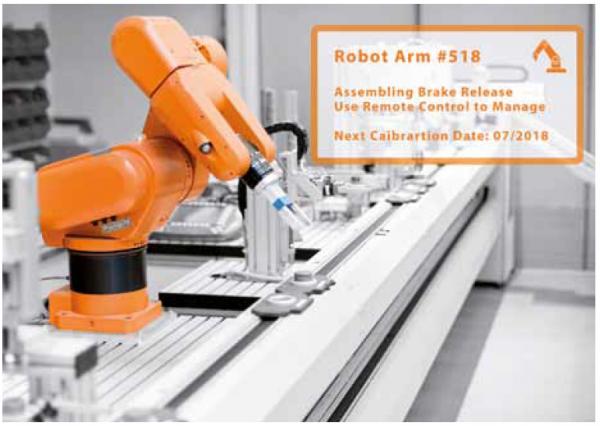 Abb. 2: Anwendungskonzept für Indoor-AR in einer Industrie 4.0 Umgebung